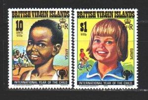 British Virgin Islands. 1979. 359-61 from the series. unicef, children, sport...
