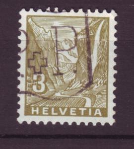 J18523 JLstamps 1934 switzerland used #219 staubbach fall waterfalls