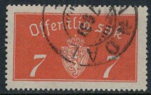 Norway #O11a  CV $22.50