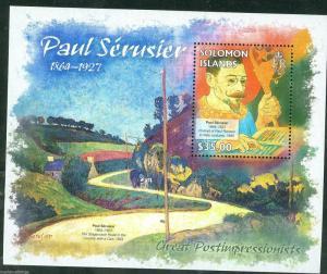 SOLOMON ISLANDS 2013 GREAT IMPRESSIONISTS  PAUL SERUSIER  SOUVENIR SHEET MINT NH
