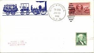 1963 Bing. & Phila. R.P.O. Railway Post Office + Train Cachet #108