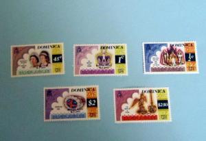 Dominica - 521 - 25, MNH Set. Anniversary, Elizabeth II. SCV - $2.05
