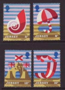 Jersey Scott 124-7 MNH** 1975 tourism set
