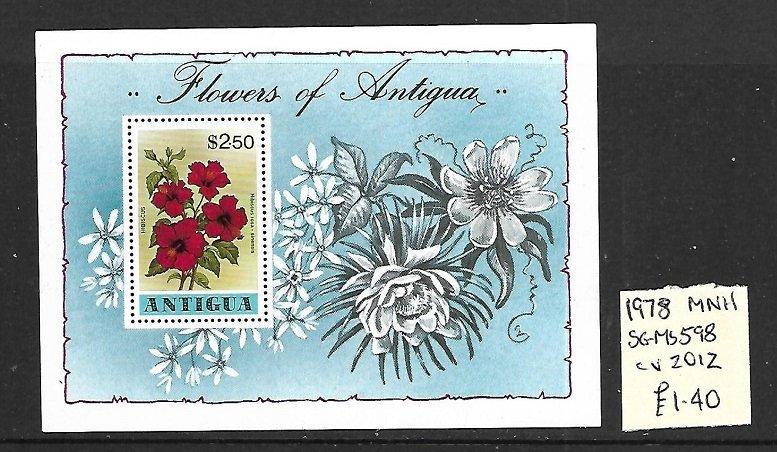 Antigua MNH S/S 598 Flowers 1978
