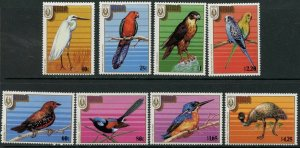 NIUE Sc#522-529 1986 Birds Complete Set OG Mint NH