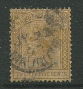 STAMP STATION PERTH: Mauritius #74 FU 1883  Single 25c Stamp