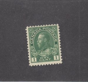 CANADA (KSG1437) # 104  VF-MNH 1cts  KGV ADMIRAL ISSUE /DRK GREEN CAT VALUE $120