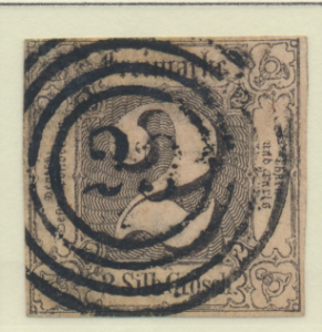 Thurn and Taxis Stamp Scott #6, Used - Free U.S. Shipping, Free Worldwide Shi...