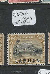 LABUAN  (P0108B)  18C MOUNTAIN SG 71A  MOG