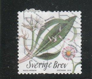 Sweden  Scott#  2821b  Used  (2018 Edible Plants)
