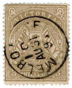 (I.B) Australia - Victoria Revenue : Stamp Duty 3/- (postally used)