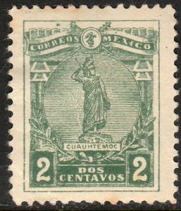 MEXICO 507 2c CUAUHTEMOC LAST AZTEC EMPEROR. MH  OG. F-VF.(344)