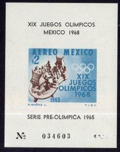 Mexico C311a Summer Olympics Souvenir Sheet MNH VF