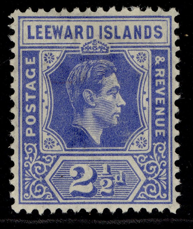 LEEWARD ISLANDS GVI SG105a, 2½d light bright blue, M MINT.