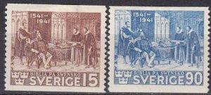 Sweden #317-8  Unused CV $20.30  (Z5237)