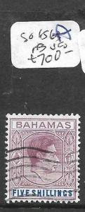 BAHAMAS (PP2501B) KGVI 5/-  SG 156A  VFU