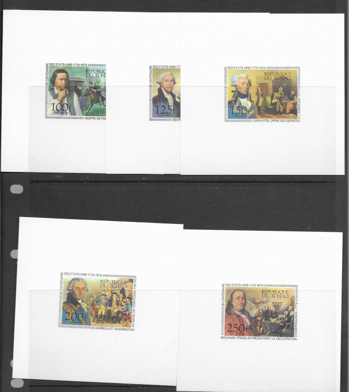 Chad C181-6 MNH perf, imperf, Deluxe/Proof. see desc. 2020 CV$62.00++