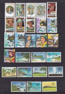 Samoa x 5 MNH modern sets