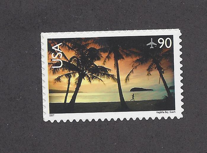 C143 Air mail Single stamp 90cent Hagathna Bay Guam