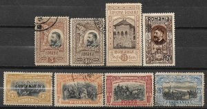 COLLECTION LOT OF # 793 ROMANIA 8 MH/USED STAMPS 1906+ CV + $19