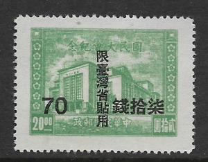 REPUBLIC OF CHINA, 10, MINT HINGED, SRCHD CHINESE NATL, ASSEMBLY