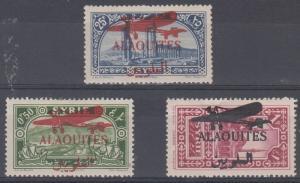 Alaouites Scott C17-C19 Mint hinged (Catalog Value $62.50)