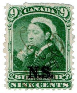 (I.B) Canada Revenue : Nova Scotia Bill Stamp 9c
