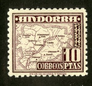 SPANISH ANDORRA 49 MH SCV $11.00 BIN $5.00 MAP