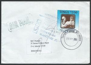 TONGA 2005 cover to Indonesia, Returned to Sender..........................51914