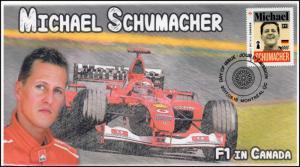 CA17-014, 2017, FDC, F1 in Canada, Michael Schumacher, Day of Issue,