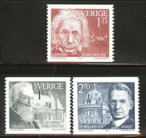 SWEDEN Scott 1387-1389 MH* 1981 coil stamp set