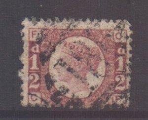 GB Scott 58 - SG48, 1858 Victoria 1/2d Plate 13 C-F used