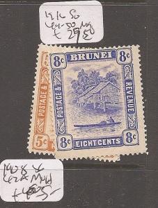 Brunei 1916 SG 44-50 MOG (3cdd)