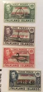 Scott 2L1-2L8 Graham Land Dependency Falkland Islands-Mint