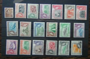 Dominica 1954 - 1962 set to $2.40 MM SG140 - SG158 MM