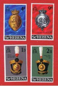 St. Helena  #240-243 MNH OG  Military Items  Free S/H