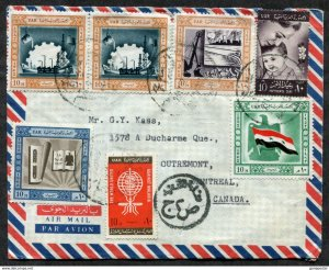 d249 - EGYPT 1960s Airmail Cover to Canada