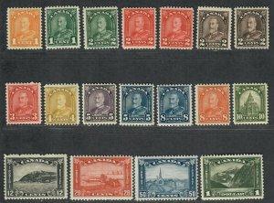 $Canada Sc#162-177+165a, 166a, complete set, a few with glazed OG, Cv. $515.12