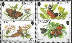 1991 Jersey Butterflies, Papillons, Farfalle, complete set VF/MNH! LOOK!