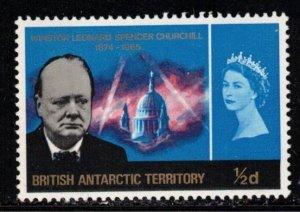 BRITISH ANTARCTIC TERRITORY Scott # 16 MH - Sir Winston Churchill