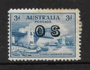 AUSTRALIA 1932  3d   BRIDGE  OFFICIAL  MH   SG O124