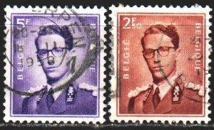 Belgium. 1957. 1075x-76x. King of Belgium, standard. USED.