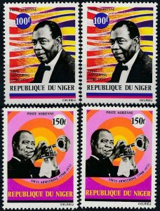 [I1365]  Republic of Niger 1971 Airmail good double set of stamps VF MNH