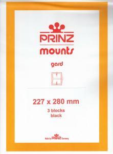 PRINZ BLACK MOUNTS 227X280 (3) RETAIL PRICE $14.00
