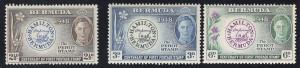 Bermuda #135-137 - O.G. - L.H.