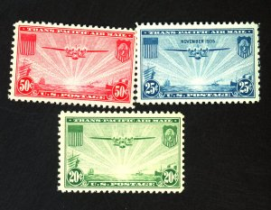 U.S. #C20-22 MINT F-VF OG NH Cat $33