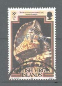 BRITISH VIRGIN ISLANDS SGO4a 1985 8c OFFICIAL TYPEII OVPT USED