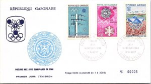 Gabon, Worldwide First Day Cover, Olympics