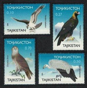 2001 Tajikistan 172-175 Birds of prey