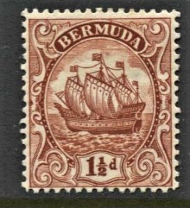 STAMP STATION PERTH - Bermuda #84 Caravel MH Wmk.4 1934 CV$12.00